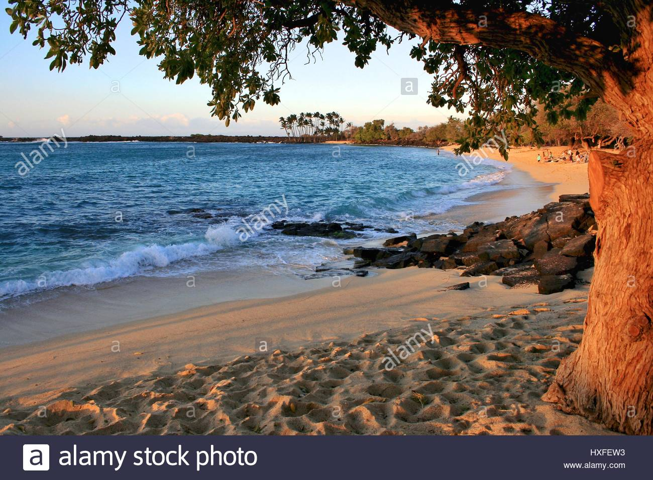 mahaiula-beach-on-big-island-hawaii-before-sunset-HXFEW3.jpg